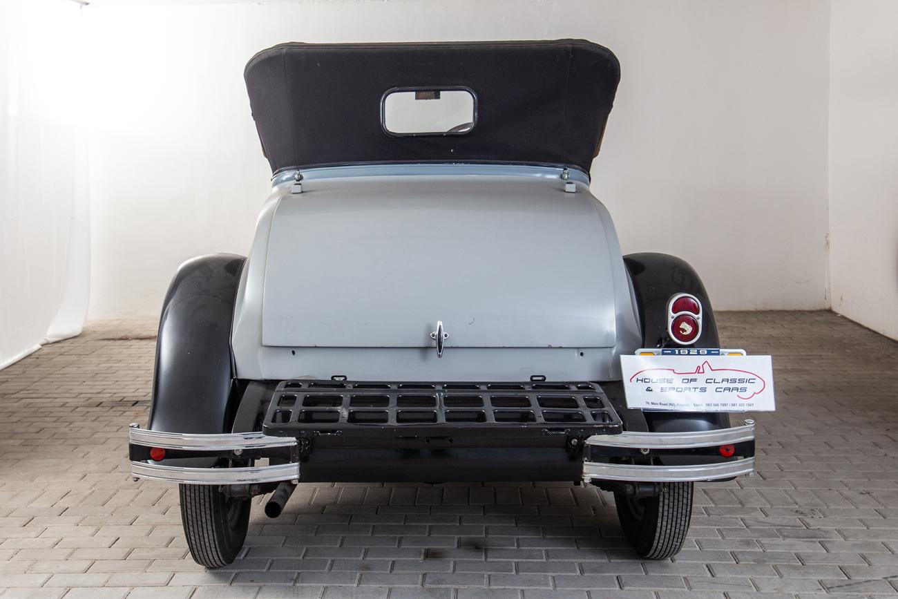 1929 CHEVROLET 2 DOOR ROADSTER